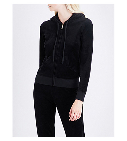 JUICY COUTURE Robertson Gothic Crystal velour hoody (Black