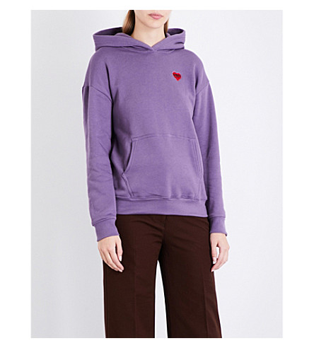 OBEY Lonely Hearts jersey hoody (Grape