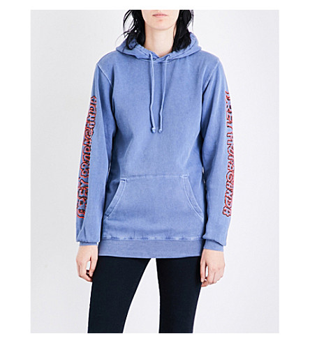 OBEY Public Opinion jersey hoody (Dusty+faded+navy