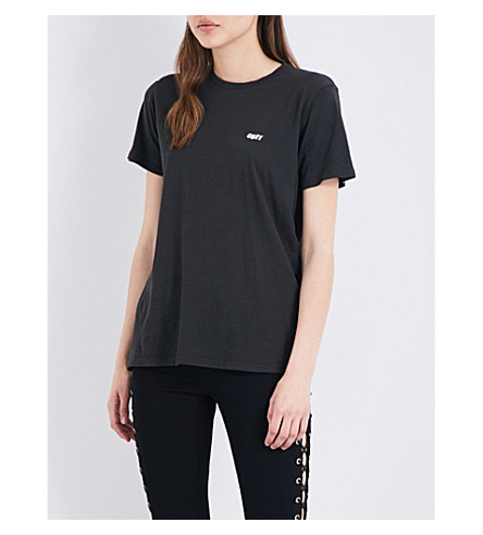 OBEY Jumbled Split Fountain cotton-jersey T-shirt (Black