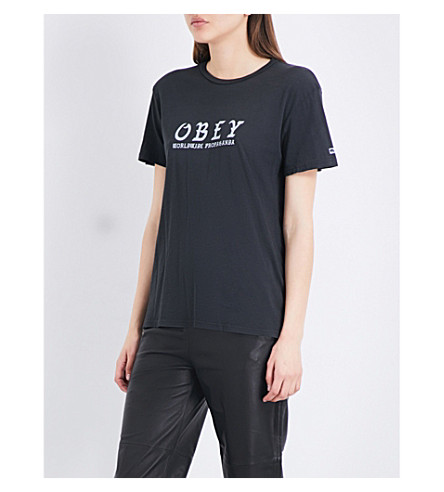 OBEY Olde OBEY cotton-jersey T-shirt (Black