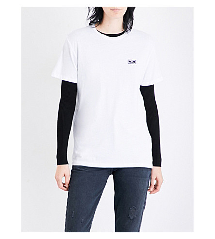 OBEY No One cotton-jersey T-shirt (Optic+white