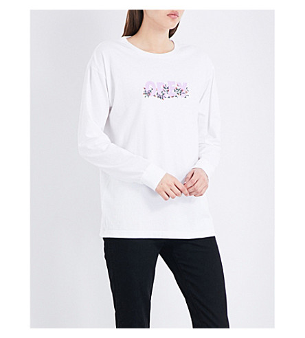 OBEY Overgrown cotton-jersey top (White