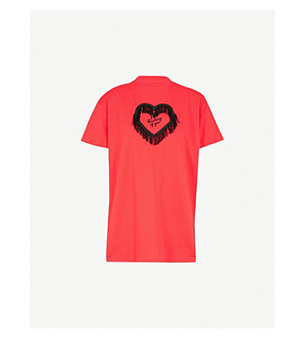 LAZY OAF Thinking of You cotton-jersey T-shirt (Red