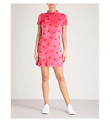 LAZY OAF Asian Persuasion velour dress (Pink