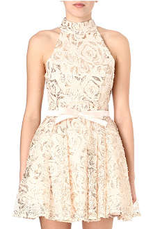 FOREVER UNIQUE Lace and bow detail dress