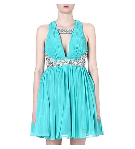 FOREVER UNIQUE Carmen dress (Turquoise