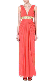 FOREVER UNIQUE Bethan Grecian maxi dress