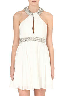 FOREVER UNIQUE Hayley embellished halterneck dress