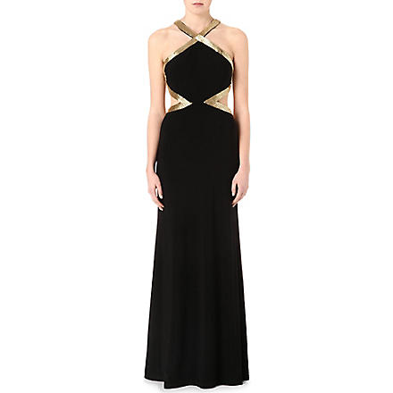 FOREVER UNIQUE Aria maxi dress (Black