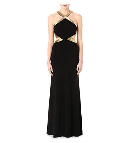 FOREVER UNIQUE Aria maxi dress (Black