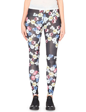 A QUESTION OF Roses jersey leggings