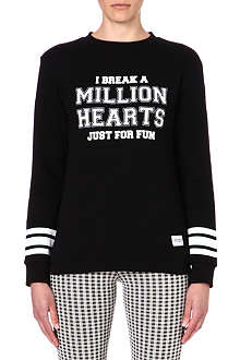 A QUESTION OF I Break Hearts cotton sweatshirt