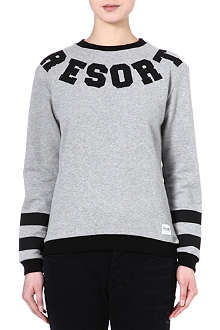 A QUESTION OF Resort stripe cotton sweatshirt