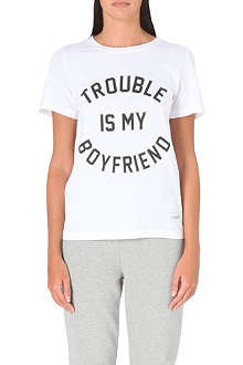 A QUESTION OF Trouble is my Boyfriend t-shirt
