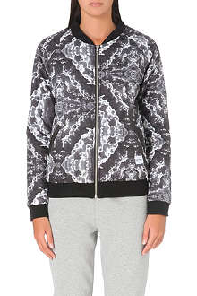 A QUESTION OF Clouds quilted bomber jacket