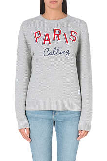 A QUESTION OF Paris Calling knitted jumper