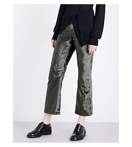 OPENING CEREMONY Flared velvet trousers (Terracotta