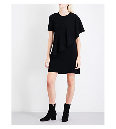 OPENING CEREMONY Draped-panel knitted mini dress (Black