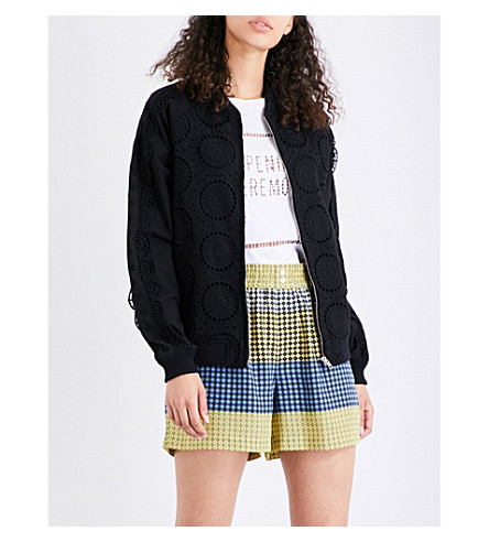 OPENING CEREMONY Cotton-broderie anglaise jacket (Black