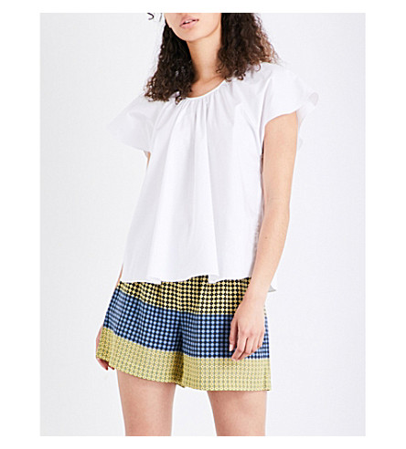 OPENING CEREMONY Flutter stretch-cotton top (White