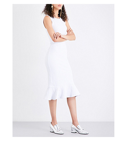 OPENING CEREMONY Lotus woven dress (White