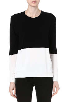 TIGER OF SWEDEN Colour-block knitted top