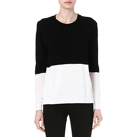 TIGER OF SWEDEN Colour-block knitted top (Black