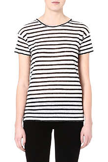 TIGER OF SWEDEN Stripe linen t-shirt