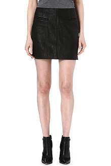TIGER OF SWEDEN Leather mini skirt