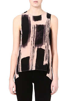 TIGER OF SWEDEN Painterly print vest top