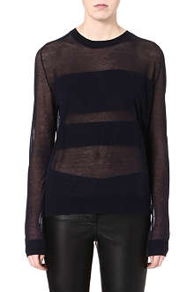 TIGER OF SWEDEN Semi sheer long sleeve top