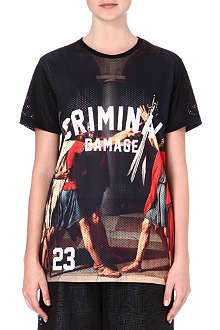 CRIMINAL DAMAGE Roman print t-shirt