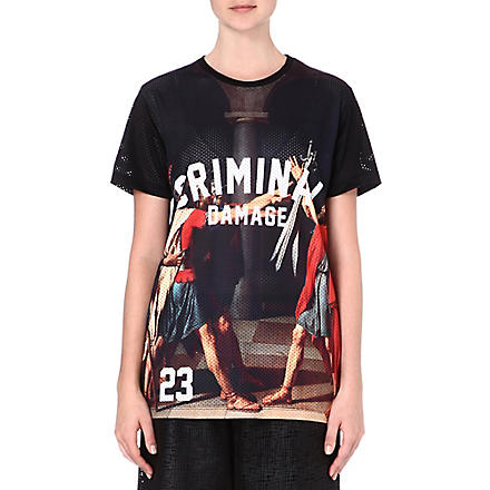 CRIMINAL DAMAGE Roman print t-shirt (Multi