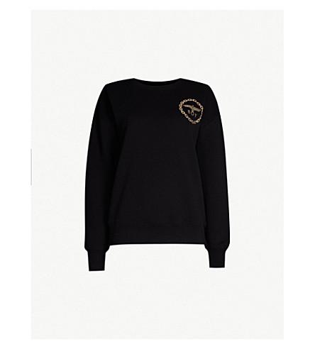 BOY LONDON Metallic eagle logo cotton-jersey sweatshirt (Black/gold