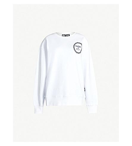 BOY LONDON Eagle-print cotton-jersey sweatshirt (White
