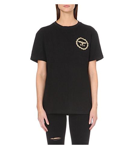 BOY LONDON Logo-print cotton-jersey T-shirt (Black gold
