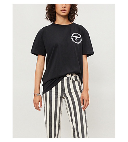 BOY LONDON Logo-print cotton-jersey T-shirt (Black/silver
