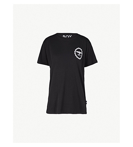 BOY LONDON Logo-print cotton-jersey T-shirt (Black