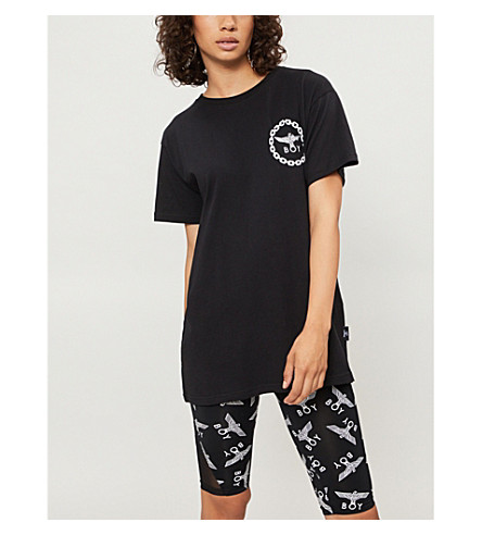 BOY LONDON Eagle-print cotton-jersey T-shirt (Black
