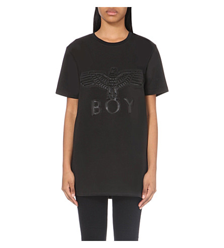 BOY LONDON Eagle logo neoprene t-shirt (Black