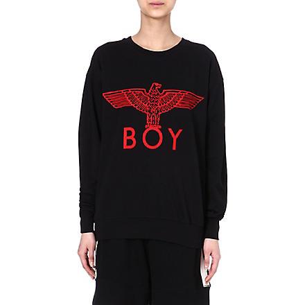 BOY LONDON Eagle logo sweatshirt (Red/black