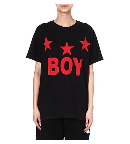 BOY LONDON 3 stars t-shirt (Red/black