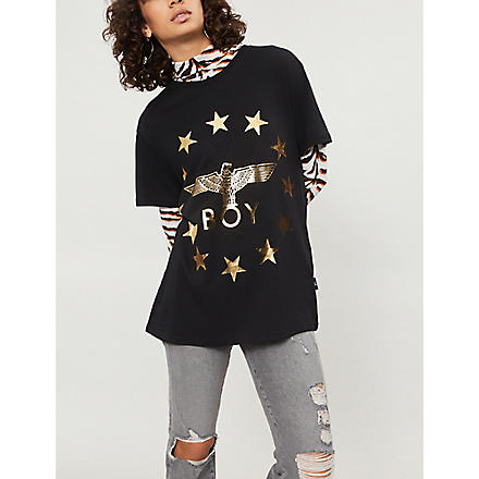 BOY LONDON Globe Star Eagle t-shirt (Black/gold