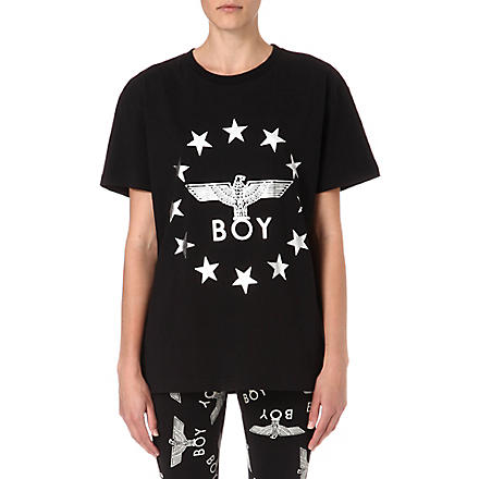 BOY LONDON Globe Star Eagle t-shirt (Black/silver