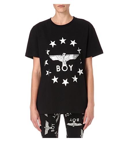 BOY LONDON Metallic Globe Star Eagle t-shirt (Black/silver