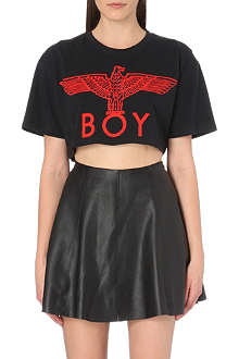 BOY LONDON Cropped logo t-shirt