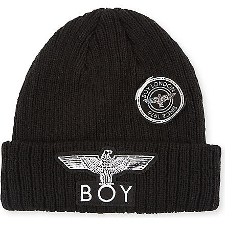 BOY LONDON Eagle appliqué beanie (Black