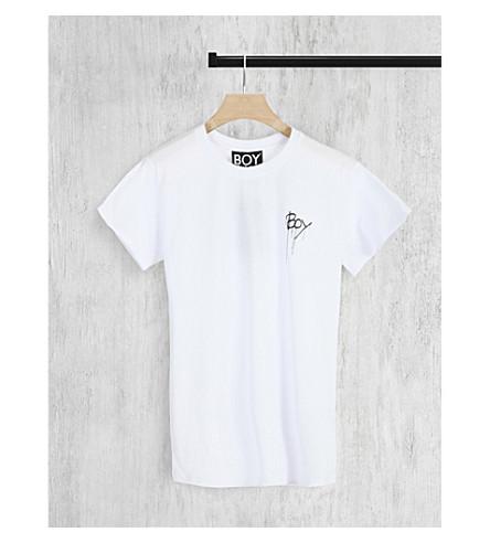 BOY LONDON Logo print cotton-jersey T-shirt (White/black