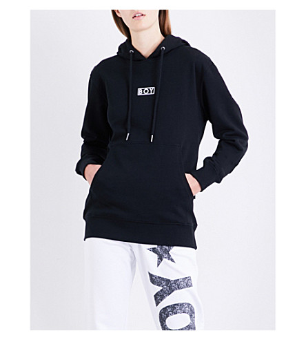 BOY LONDON Flock Eagle cotton-jersey hoody (Black